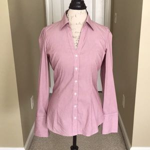 Express V Neck Fitted Blouse